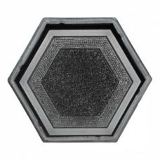 Molds The Hexagon (with a pattern) 205х178х45 VSV Ukraine 1pc.